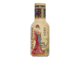 Arizona Diet Green Tea with Ginseng - 473ml Glass Bottle
